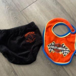 baby gear Harley-Davidson   Bib and diaper cover